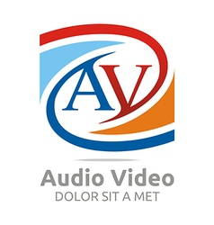 Letter av consulting icon busines vector