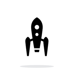 Long rocket simple icon on white background vector image