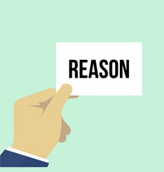 man showing paper reason text vector image
