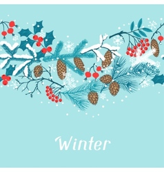 Merry Christmas seamless pattern with winter vector