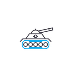 military units thin line stroke icon vector image