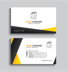 Minimal business card print template design vector