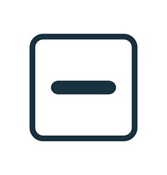 Minus icon Rounded squares button vector