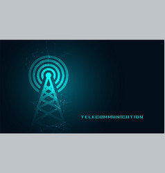 Mobile telecommunication digital tower background vector