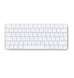 modern aluminum computer keyboard isolated vector image