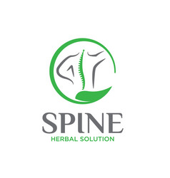 Nature spine logo designs simple for medical vector