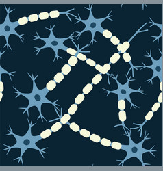 neuron seamless pattern vector image