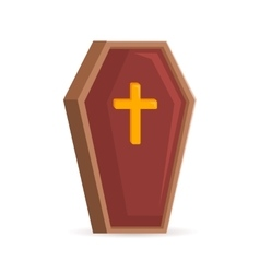 Old fashoined coffin vector image