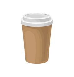 Paper take away coffee cup packaging template vector