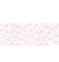 Pink textile tulips texture horizontal seamless vector