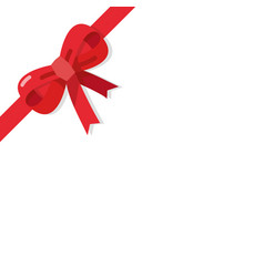 Red bow isolated on white background vector