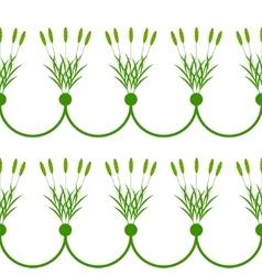 Seamless plant border vector