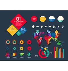 Set elements of infographic vector image