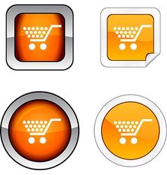 Shopping button set vector