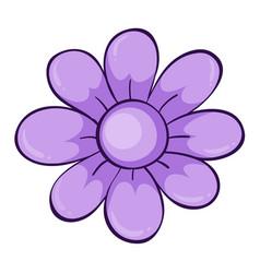 Single flower in purple vector