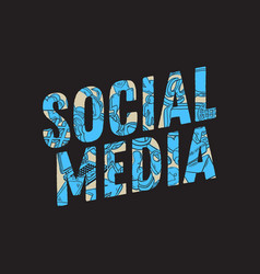 social media design with isolated essential vector image