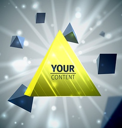 Stylish pyramid cover design vector image