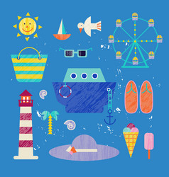 summer colorful travelling vector image