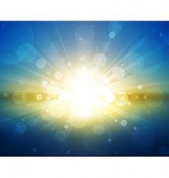 sunset light vector image