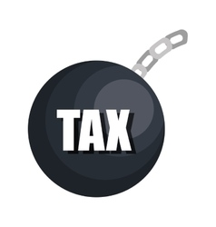 Tax payment isolated flat design vector