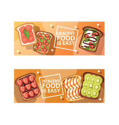 toast sandwich healthy toasted food with bread vector image