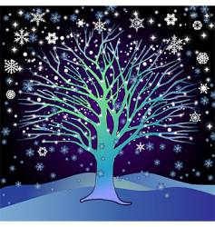 tree in the snow vector image