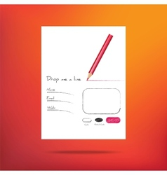 web form for feedback vector image