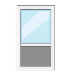 window frame icon cartoon style vector image