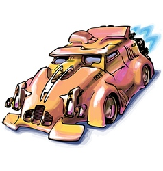 Retro Jet Car vector image