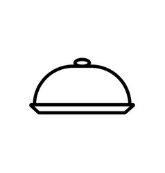 serving dish icon vector image vector image
