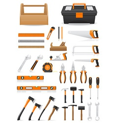 set tools vector image vector image