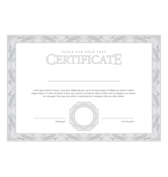 Vintage certificate template diplomas currency vector