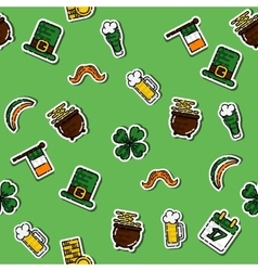 StPatricks Day pattern vector image