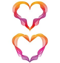 abstract ribbon hearts vector image vector image