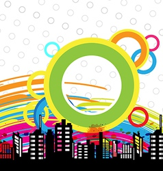 art urban design vector image vector image
