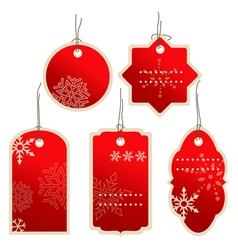 Christmas nad winter price tags vector image vector image