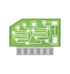 computer hardware processor card vector image