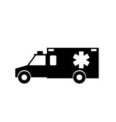 emergency ambulance with siren flat design vector image
