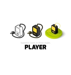 Player icon in different style vector image