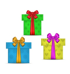 Set gift boxes isolated vector image