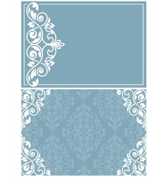 Two vintage invitation cards vector image