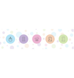 5 inside icons vector