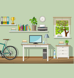 a classic homeoffice vector image