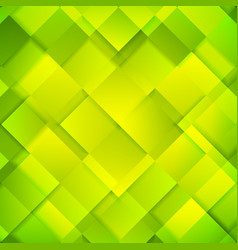 Abstract bright green squares background vector