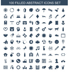 Abstract icons vector
