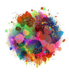 Abstract splatter color background vector