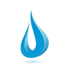 Abstract water drop vector image