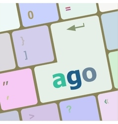 ago message on enter key of keyboard keys vector image