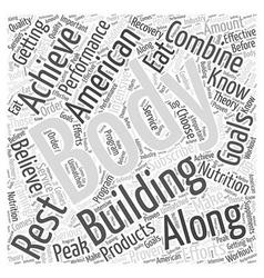 American Body Building Word Cloud Concept vector