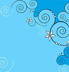 blue floral background vector image